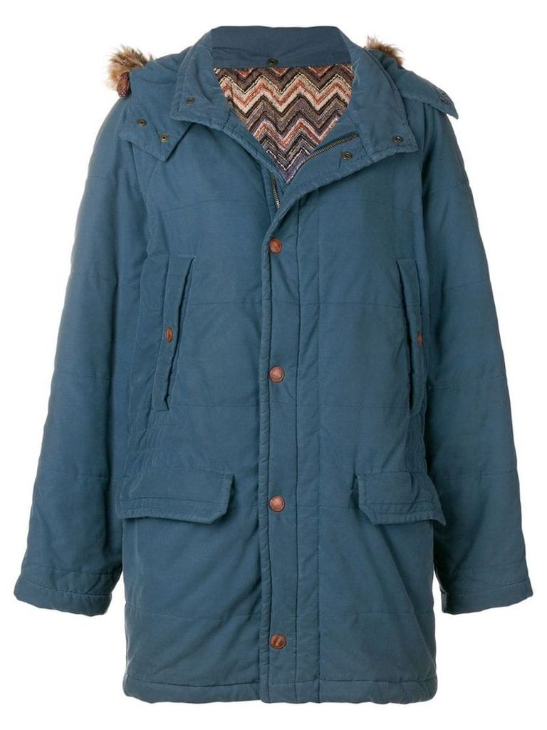 Missoni Pre-Owned 1990's padded coat - Blue
