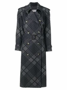 Yves Saint Laurent Pre-Owned belted trench coat - Grey
