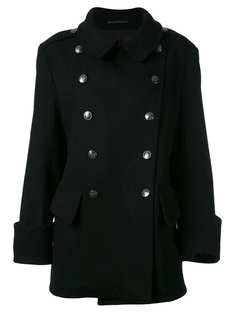 Yohji Yamamoto Vintage double-breasted coat - Black