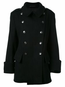 Yohji Yamamoto Pre-Owned double-breasted coat - Black