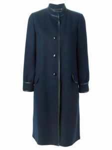 Louis Feraud Pre-Owned buttoned coat - Blue