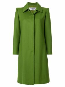Yves Saint Laurent Pre-Owned button up vintage coat - Green