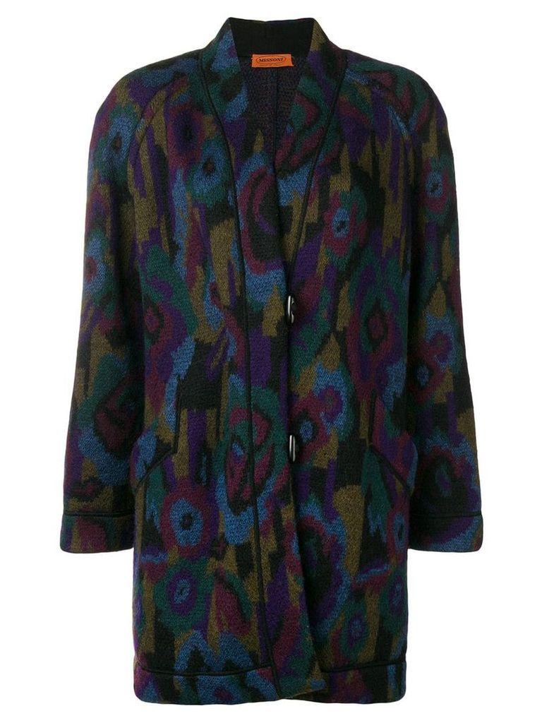 Missoni Vintage 1980's floral boxy coat - Blue