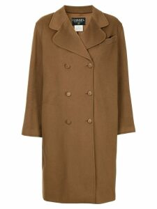 Chanel Pre-Owned cashmere double breasted coat - Brown