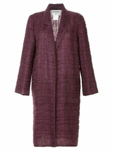 Chanel Pre-Owned long sleeve coat jacket - PINK