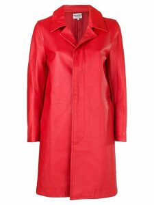 Comme Des Garçons Pre-Owned 2000's faux leather coat - Red