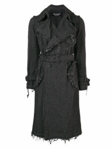 Junya Watanabe Comme des Garçons Pre-Owned pinstripe frayed coat -