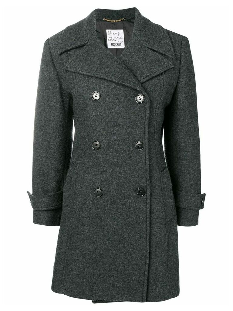 Moschino Pre-Owned 2000's double-breasted midi coat - Grey