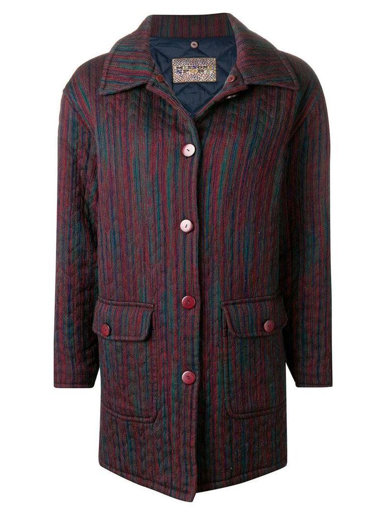 Missoni Vintage 1990's boxy padded coat - Pink