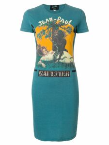 Jean Paul Gaultier Pre-Owned logo T-shirt dress - Blue