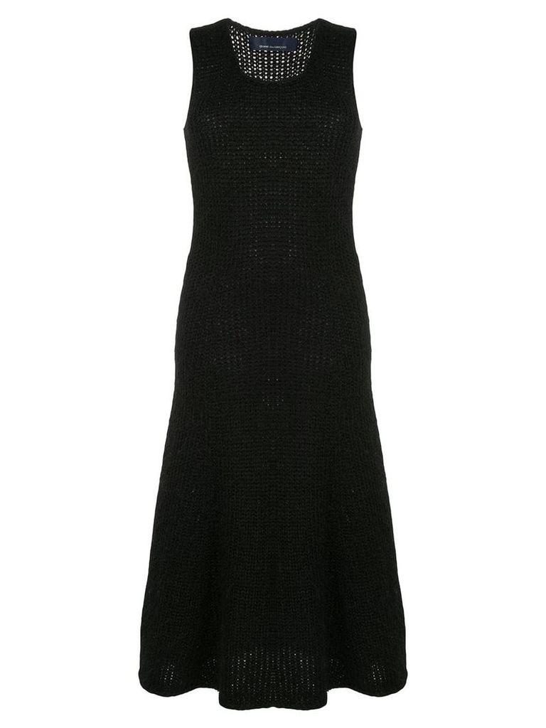 Comme Des Garçons Vintage knitted midi dress - Black