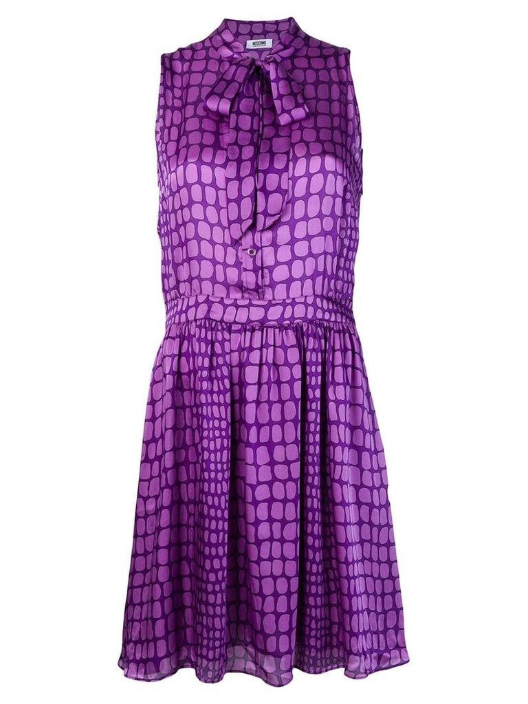 Moschino Vintage geometric pattern buttoned dress - Purple