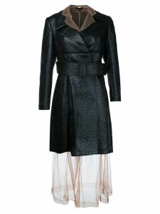 Comme Des Garçons Pre-Owned sheer under layer coat dress - Black