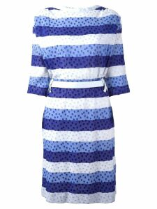 Courrèges Pre-Owned tonal stripe dress - Blue