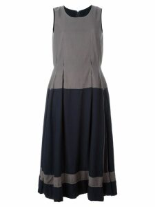 Comme Des Garçons Pre-Owned two-tone pleated dress - Grey