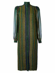 Jean Louis Scherrer Pre-Owned striped shirt dress - Green