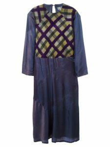 Yohji Yamamoto Pre-Owned 'Y' tie-dye dress - Purple