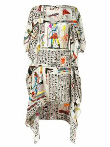 Jean Paul Gaultier Pre-Owned printed layered dress - Multicolour