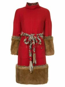 Chanel Pre-Owned fantasy fur dress - Red