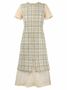 Comme Des Garçons Pre-Owned 1997 deconstructed plaid dress - Neutrals