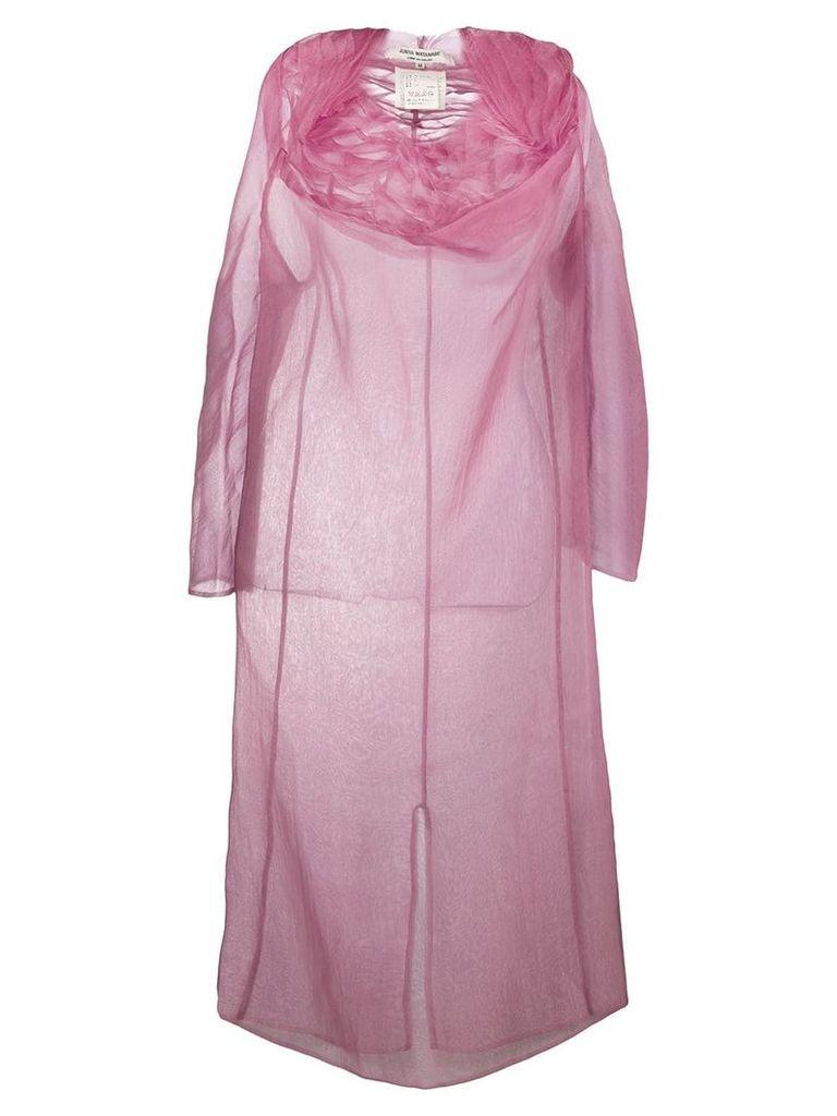 Junya Watanabe Comme Des Garçons Vintage ruffled sheer dress - Pink