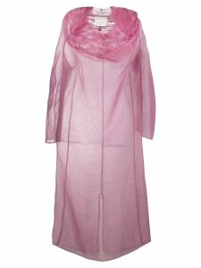 JUNYA WATANABE COMME DES GARÇONS PRE-OWNED ruffled sheer dress - Pink