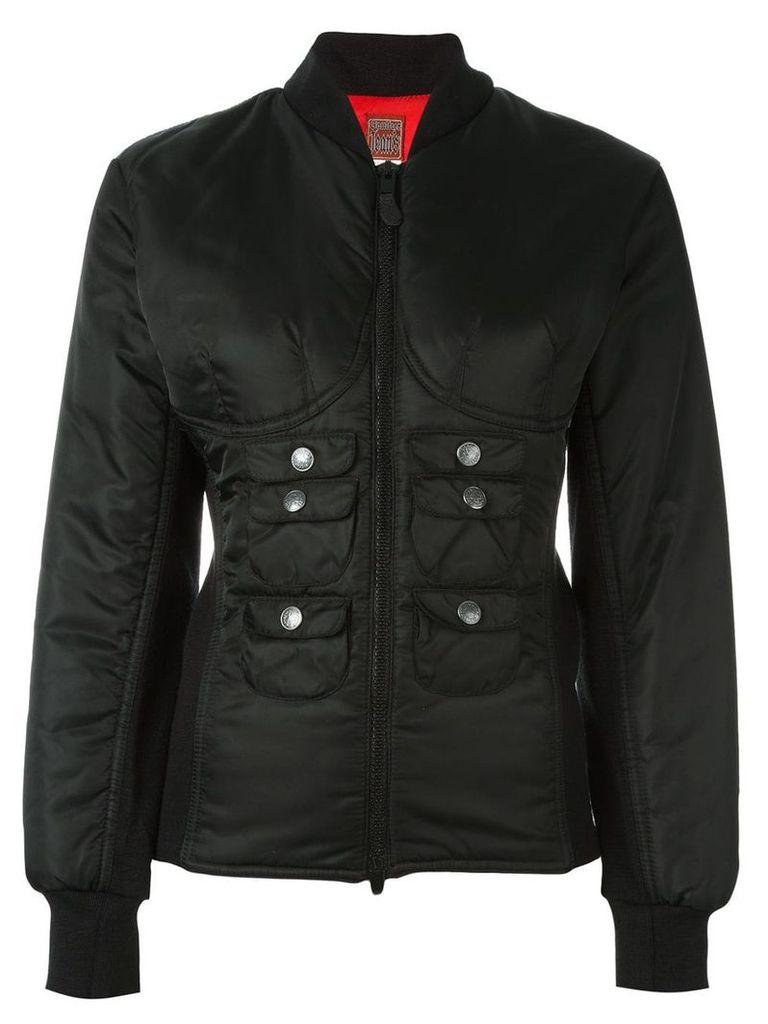 Jean Paul Gaultier Vintage slim fit bomber jacket - Black