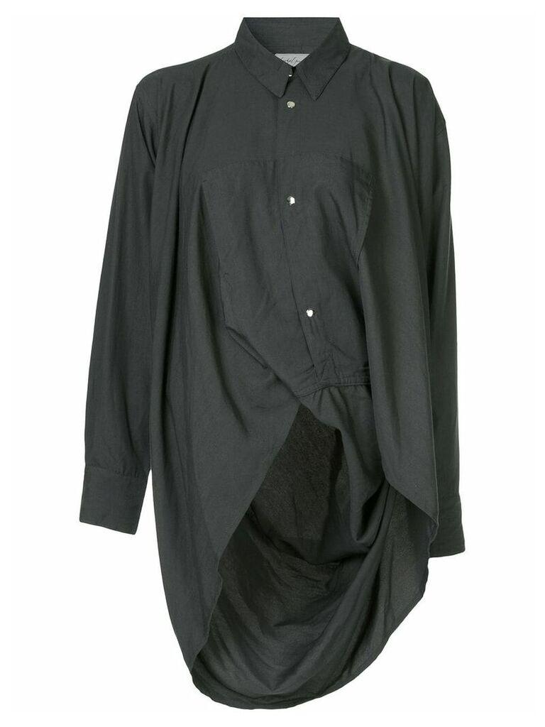 Yohji Yamamoto Vintage long-sleeve asymmetric shirt - Black