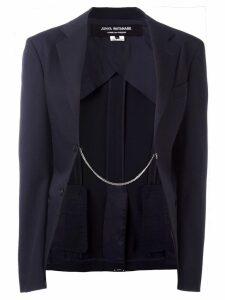 Junya Watanabe Comme des Garçons Pre-Owned chain detail blazer - Blue