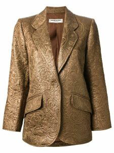 Yves Saint Laurent Pre-Owned brocade blazer - Brown