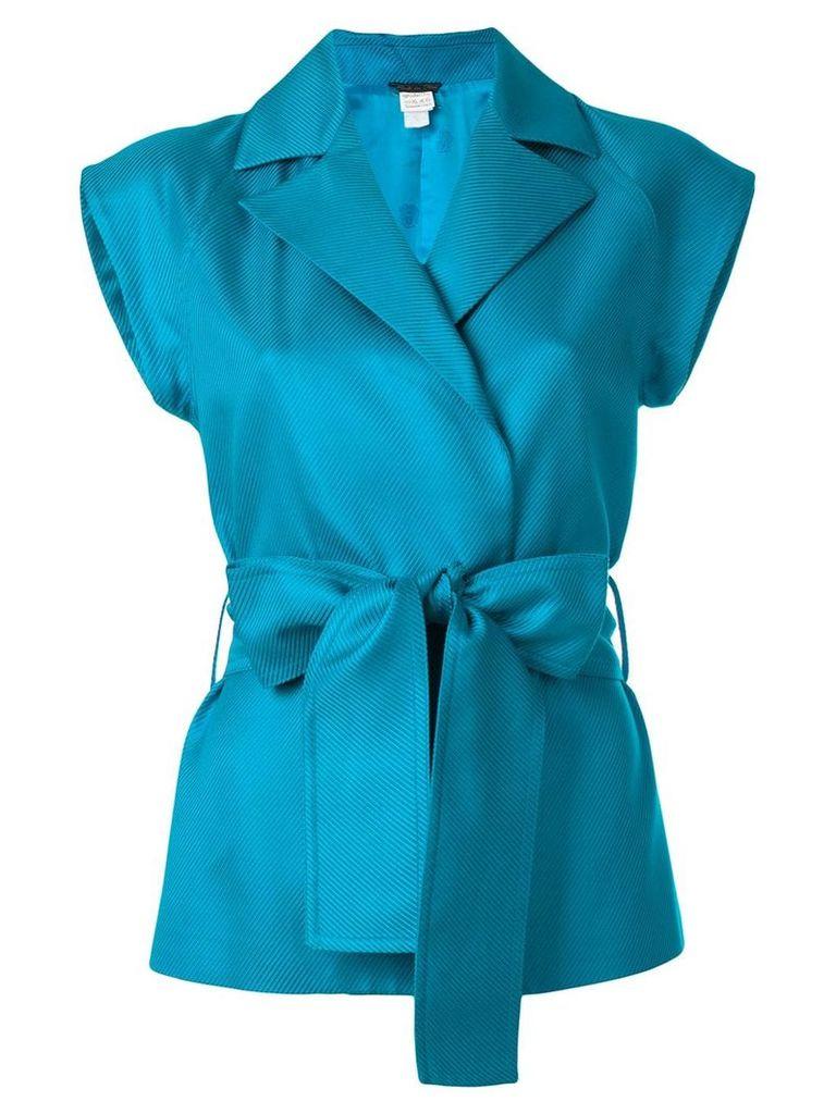 Versace Vintage belted waistcoat - Blue
