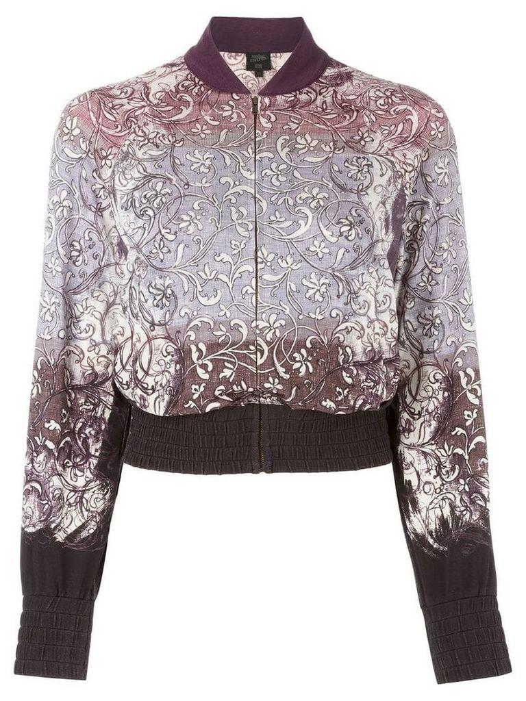 Jean Paul Gaultier Vintage baroque print bomber jacket - Grey