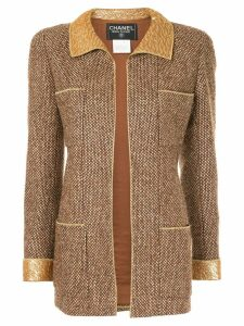 Chanel Pre-Owned tweed fitted jacket - Brown