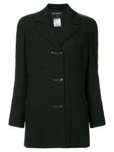 Chanel Pre-Owned long sleeve coat - Black