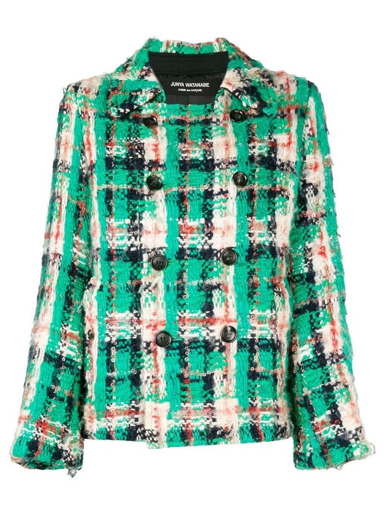 Junya Watanabe Comme Des Garçons Vintage diamond check double-breasted
