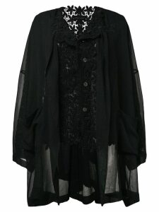 Comme Des Garçons Pre-Owned 1989 macramé layered jacket - Black