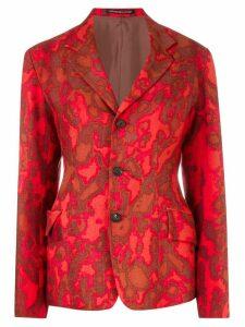 Yohji Yamamoto Pre-Owned pixelated print blazer - Red