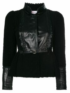 Valentino Pre-Owned panelled belted jacket - Black