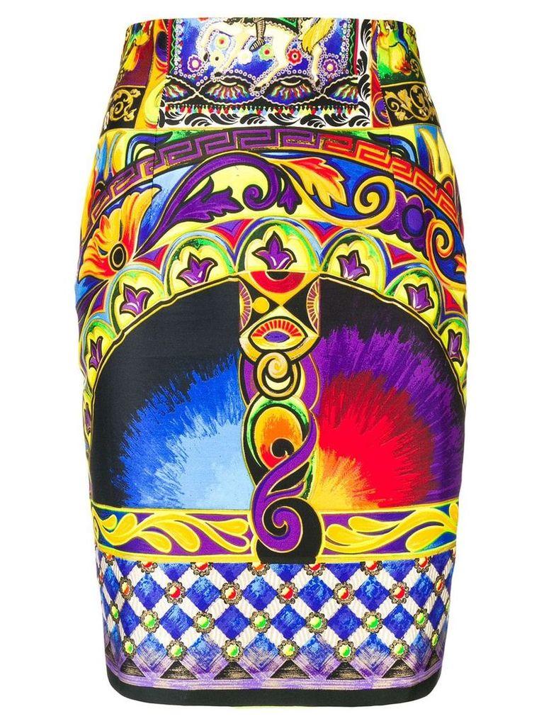 Versace Vintage psychedelic print skirt - Black
