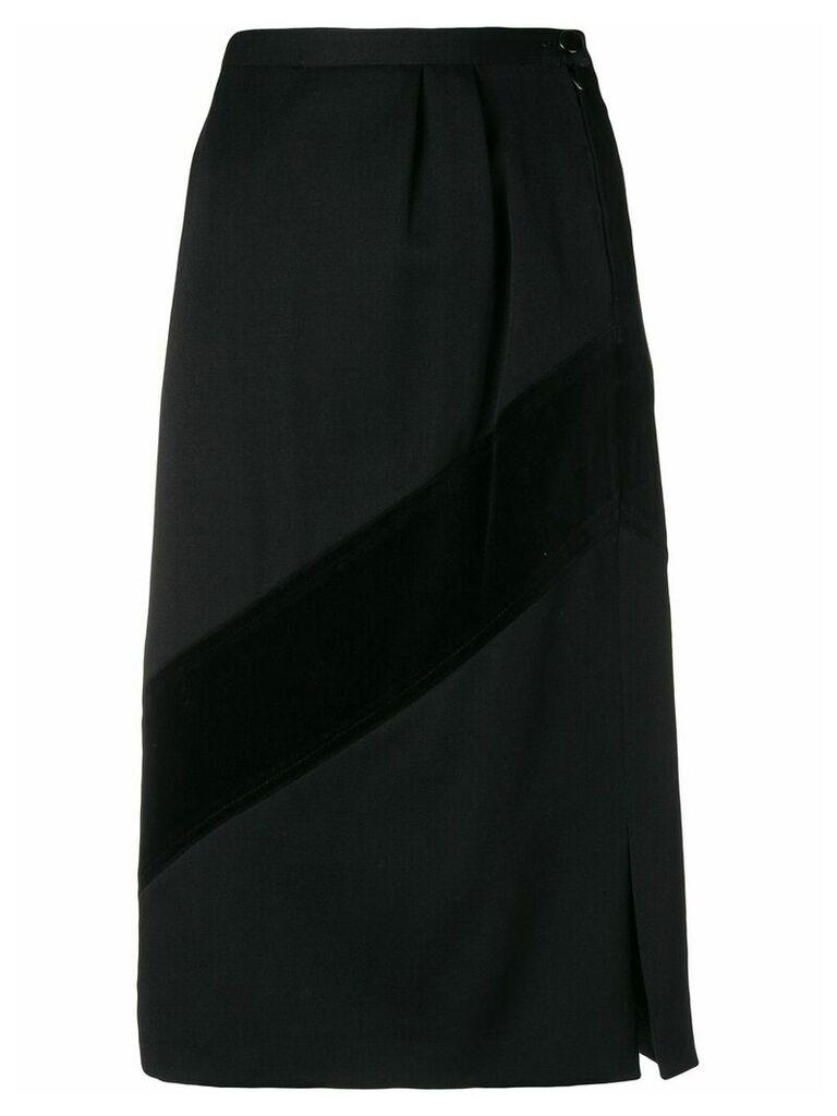 Valentino Vintage 1980's straight skirt - Black