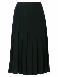 Yves Saint Laurent Pre-Owned pleated skirt - Black