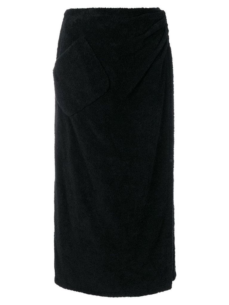 Chanel Pre-Owned 1992 wrapped midi skirt - Black