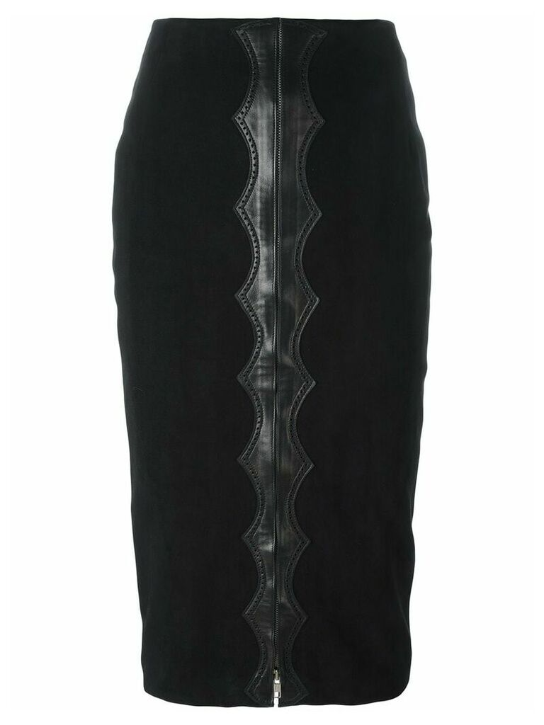 Alaïa Pre-Owned appliqué detail midi skirt - Black