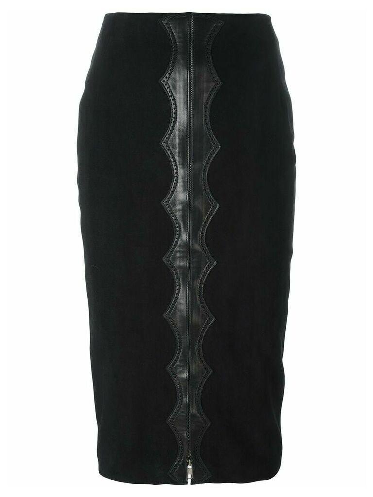 Alaïa Vintage appliqué detail midi skirt - Black
