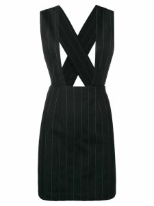 Comme Des Garçons Pre-Owned pinstriped dungaree skirt - Black