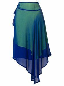 Yohji Yamamoto Vintage asymmetric sheer skirt - Blue