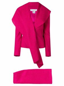 Christian Dior Pre-Owned waterfull lapel skirt suit - Pink