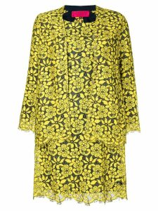 Christian Lacroix Pre-Owned floral lace dress & jacket - Yellow