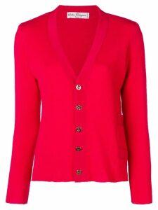 SALVATORE FERRAGAMO PRE-OWNED 1970's cardigan - Red