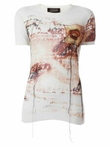 Jean Paul Gaultier Pre-Owned sheer printed T-shirt - Neutrals